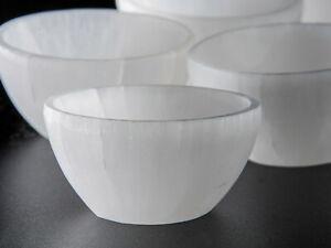 Selenite Bowl Crystal Carving (6cm diameter) - Home Décor, Healing Crystals