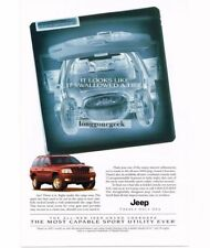 1999 Jeep Flame Red GRAND CHEROKEE X-Ray Vtg Print Ad