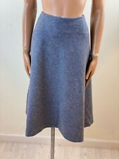 HOBBS Grey A Line Wool Skirt Size 14 Dry Cleaned Excellent Condition