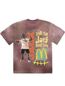 Travis Scott X McDonalds Shirt- Action Figure Nike Jordan Cactus Jack - Sz 2XL