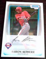 AARON ALTHERR 2011 Bowman Chrome Rookie Card RC Phillies HOT .351 BA 7 HRs 74AB