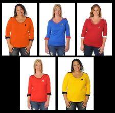 UG Apparel Women's Roll Up Top, Alabama, Kansas, Nebraska, Michigan, Illinois