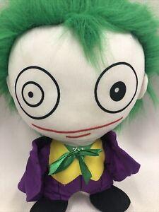 Six Flags Joker PILLOW HEAD STUFFED PLUSH TOY DC Comics Justice League
