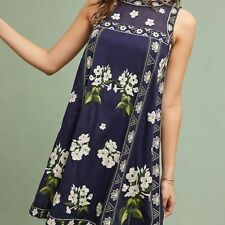 Anthropologie Rosa Embroidered Swing Dress Size 12
