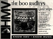 21/8/93PGN17 THE BOO RADLEYS : GIANT STEPS ALBUM ADVERT 7X11""