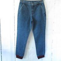 New $208 Carmar Aliena Jogger Jeans Denim High Rise Ankle Crop