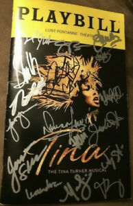 The Tina Turner Musical Cast Signed Broadway Playbill Proud Mary Private Dancer