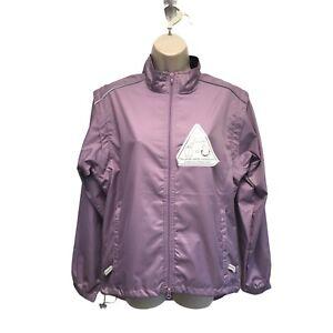 Canari Women's Lavender Purple Tour Jacket Zip Off Sleeves Fanny Pack Vest L NEW