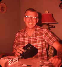 Vintage Stereo Realist Photo 3D Stereoscopic Slide MAN w Realist Viewer & Slides