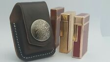 ST DuPont Lighter Case Brown Leather Fits Line 1 Large Line 2 & Zippo New ##1