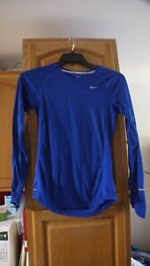 NIKE RUNNING ROYAL BLUE LONG SLEEVE ATHLETIC SHIRT SMALL