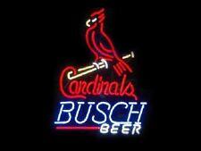 "New Busch Beer St Louis Cardinals MLB Beer Neon Sign 24""x20"""