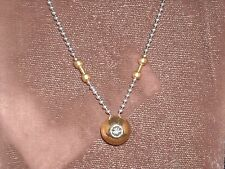 333 14k yellow gold diamond pendant 9 grams .20 carat H SI 1 17 inch white chain