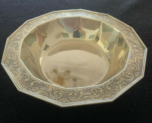 Antique Tiffany & Co Makers Ornament Chased Sterling Silver Bowl