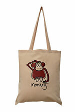NEW TOTE BAG: MONKEY Sand, 100% cotton