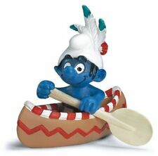 CANOE AMERICAN INDIAN SMURF from 2007 by SCHLEICH THE SMURFS - 20549