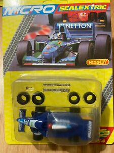 MICRO SCALEXTRIC G128 BENETTON RENAULT F1 - BRAND NEW - RARE BLISTER PACK