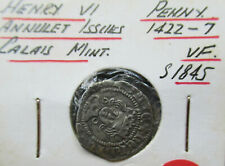 Great Britain 1422-7 Henry VI Hammered silver penny Annulet Calais mint VF
