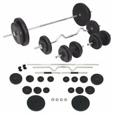 Vidaxl Set bilanciere e manubri da 90 kg barre acciaio Piastre Dischi di Peso