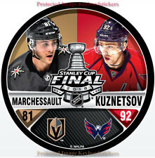 VEGAS GOLDEN KNIGHTS CAPITALS 2018 STANLEY CUP FINAL MARCHESSAULT KUZNETSOV PUCK