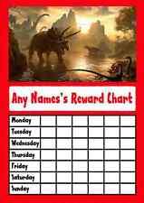 Red Dinosaur Star Sticker Reward Chart