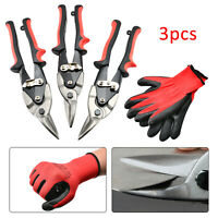 Heavy duty 3pcs aviation tin snips set sheet metal cutters shears tinsnips shear