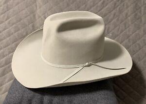 Resistol Diamond Horseshoe Straw Cowboy Hat 7.1/8 20x Beaver