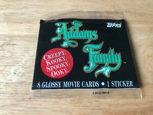 Sealed Packet of Topps The Addams Family (8 cards 1 sticker) 1991