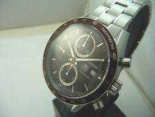 TAG HEUER CARRERA CHRONO CALIBER 16 -DARK BROWN DIAL AND BEZEL! NEW Box & Papers