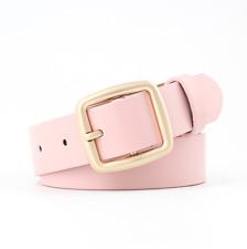 SALE Pack of 2 Plain and Crocodile Effect Ladies Fashion Belts Women Girls Belt