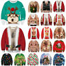 UGLY XMAS CHRISTMAS SWEATER Women Men 3D Print Sweatshirt Casual Tops Pullover