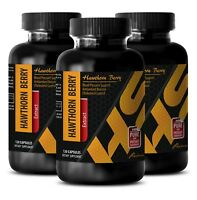 immune system booster - HAWTHORN BERRY LEAF EXTRACT Capsules 665mg - 3 Bottles