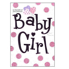 Greeting Card with Envelope - Lets Party Range - LP5014 Baby Girl Pink