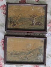 Antique Humorous Framed Hunting Prints/Lot of 2/Weathered Charm