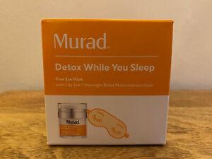 Murad City Skin Overnight Detox Moisturiser & eye mask Full Size 50ml RRP£70