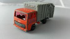Matchbox Superfast #36 Ford Refuse Garbage Truck Orange Purple Windows 1979