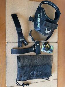 Julius-K9 IDC Dog Harness - Black Mini/XS, Plus all the Extras/bag.