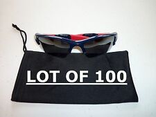 WHOLESALE / RESALE 100 NEW Carrying Case pouch - Sunglasses Black Soft Cleaner