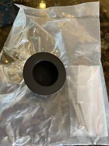 Matte Black Finger Pull Handle for Flush Doors.