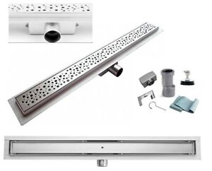Linear Stainless S304 Steel Wet Room Shower Floor Drain Waste