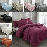 Thermal Winter Warm Sherpa Super Soft Bedding Teddy Fleece Duvet Set