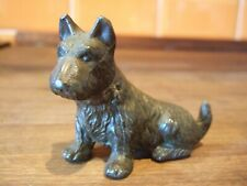 More details for small metal terrier dog with loop on collar & possibly some lettering to base