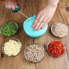 USA Kitchen Manual Hand Pull Vegetable Onion Garlic Chopper Cutter Slicer Peeler
