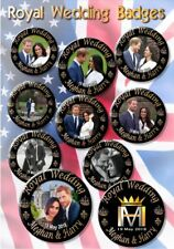 PRINCE HARRY~MEGHAN MARKLE BUTTON BADGES~ ROYAL WEDDING SOUVENIR ~SET OF 10