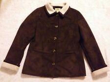 2e10591c6dad8 Gander Mountain COAT Medium Jacket Winter Faux Fur Lined Brown Womens  OUTERWEAR