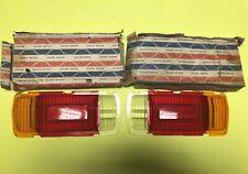Datsun B110 1200 Sedan Club Rear Tail light Lens Set Genuine NOS