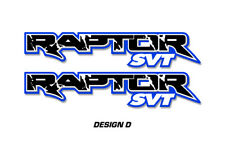 """Ford F150 48"""" x 9.5"""" RAPTOR SVT Truck Bed Graphic Decal Stickers 10-14 BLACK BLU"""