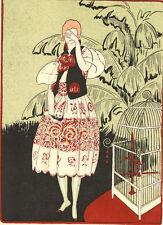"""Gazette Du Bon Ton L'OISEAU MORT """"The Dead Bird"""" Fashion POCHOIR Art Deco"""