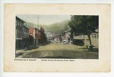 Bridge Street in SHELBURNE FALLS MA Antique S Schmidt Pub Rare Dirt Road 1911
