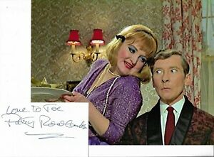 CARRY ON - PATSY ROWLANDS - GENUINE HAND SIGNED CARD + PHOTOGRAPH